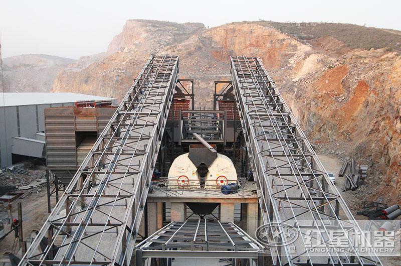 四川时产500万环保机制砂生产现场