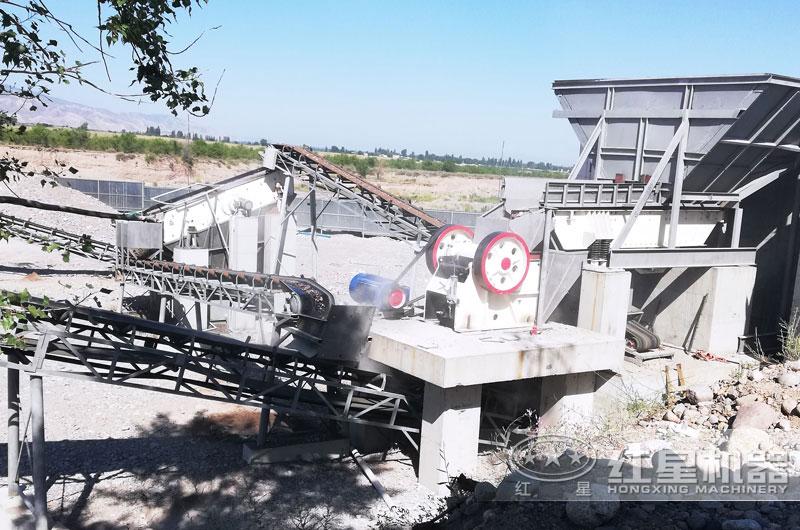 河南新乡砂石料生产线现场