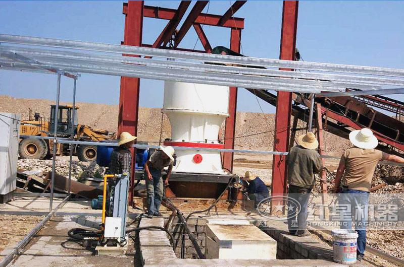 湖北宜昌干式制砂生产线现场