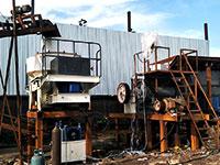 干式制砂生产线现场图片实拍,整套人工机制砂机器多少钱