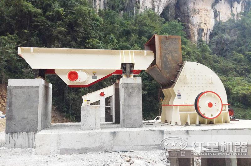 甘肃石灰石生产线安装现场