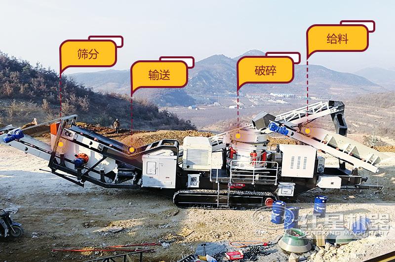 移动式混凝土砂石破碎筛分机集多功能为一体