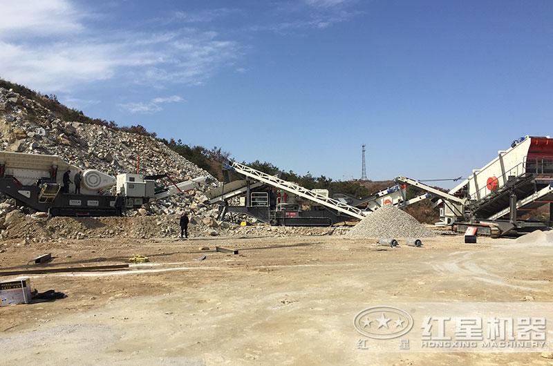 山东客户建筑垃圾处理厂也正在投产使用