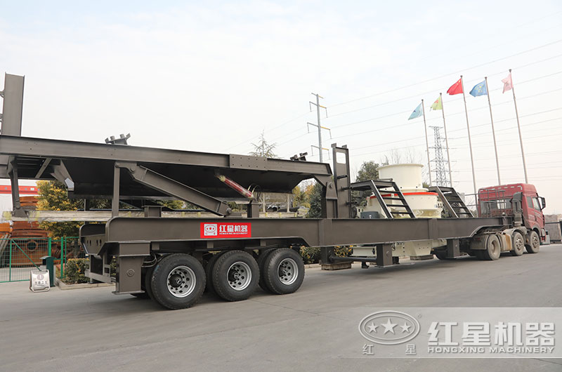时产100吨移动制砂机直接发往安徽