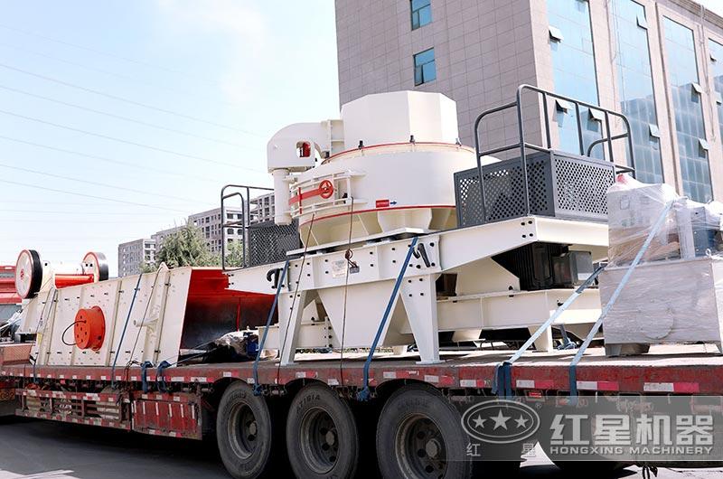 鹅卵石破碎制砂生产线设备发往浙江