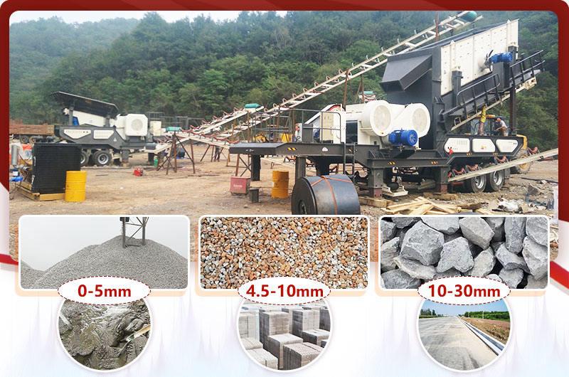 环保式移动粉碎机处理建筑废料成品