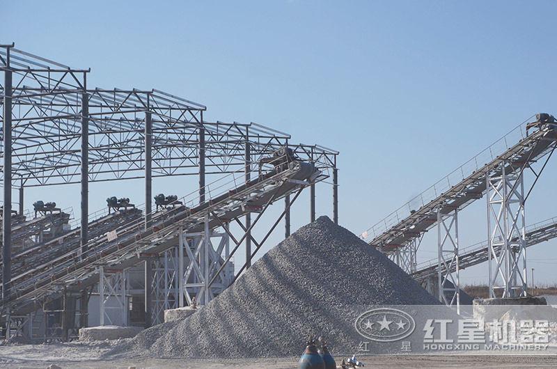 机制砂生产现场,需求量大,前景好