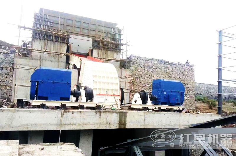 安徽青石破碎石子生产线现场