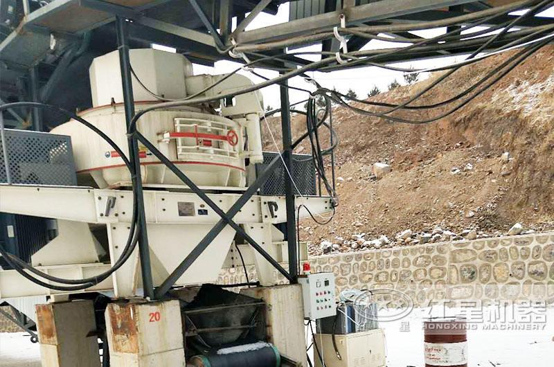鹅卵石破碎石子生产线现场