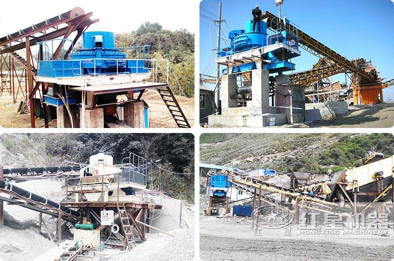 各地用户的制砂厂生产线现场,欢迎就近考察