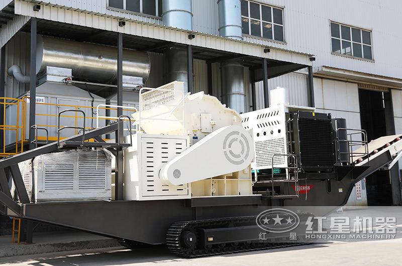 制砂履带移动式破碎机:制砂粒度均匀,提高产量20%