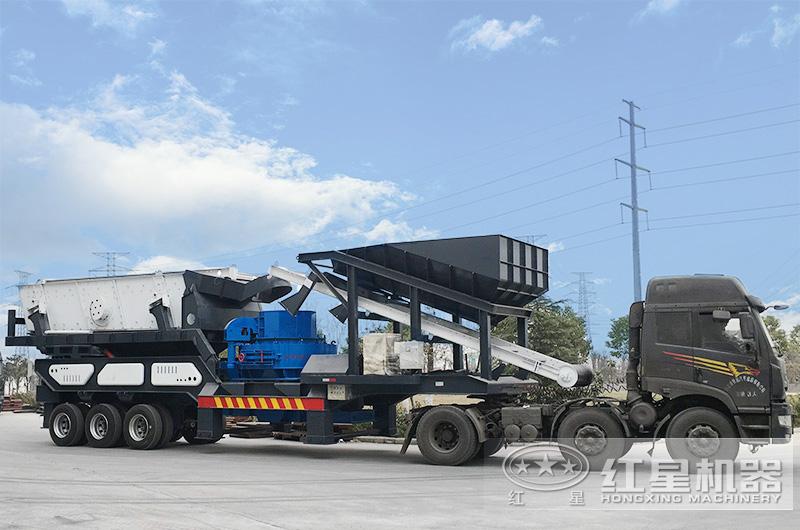 花岗岩移动式机制砂生产线厂家直供,发往浙江
