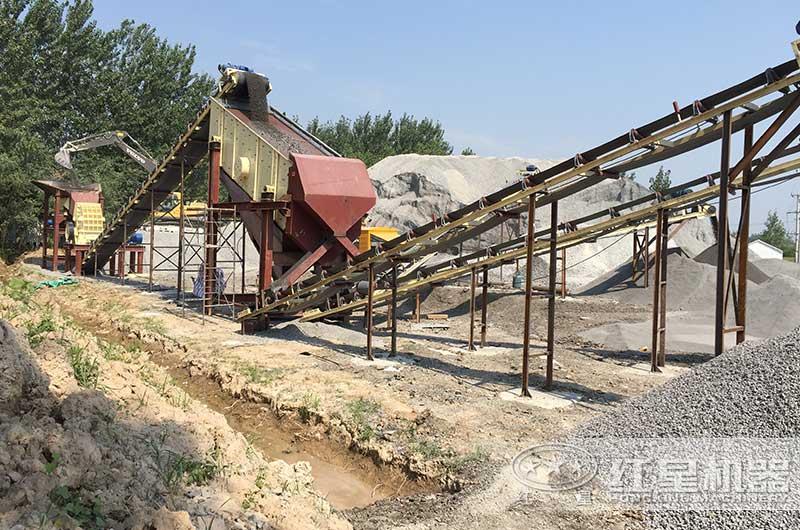时产300吨碎石机生产线图