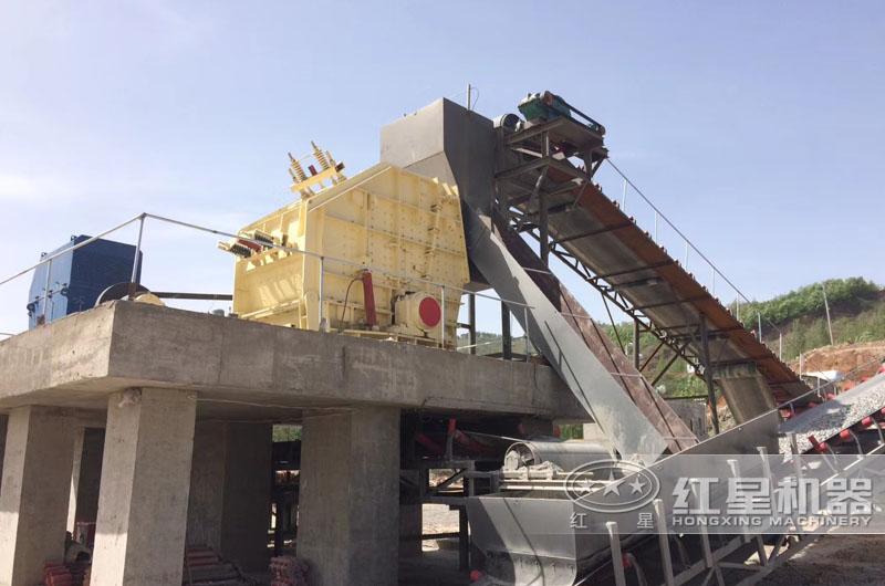 时产300-400吨加工石英砂生产线现场