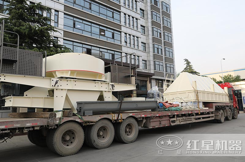 大型机制砂设备发货中,配置除尘器