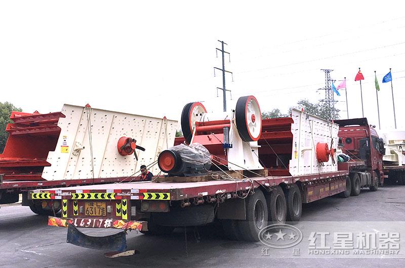 全套200吨砂石厂生产线设备发货