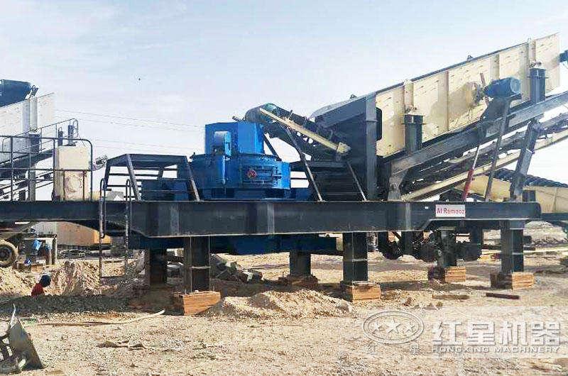 移动式磨沙机生产现场