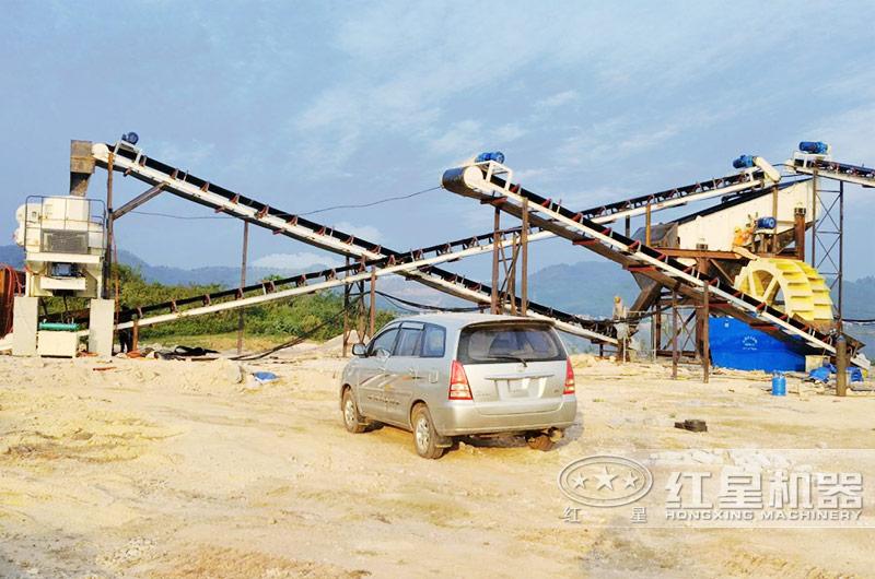 河南三门峡时产30吨河卵石制砂生产线