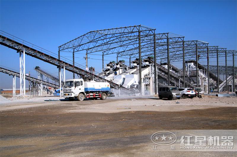河北客户日产万吨石子加工厂
