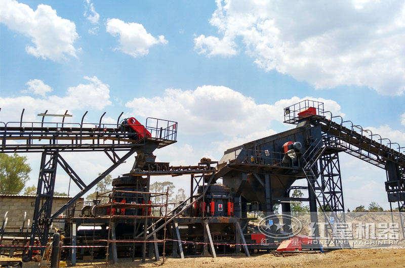 安徽全液压圆锥破碎机生产案例现场