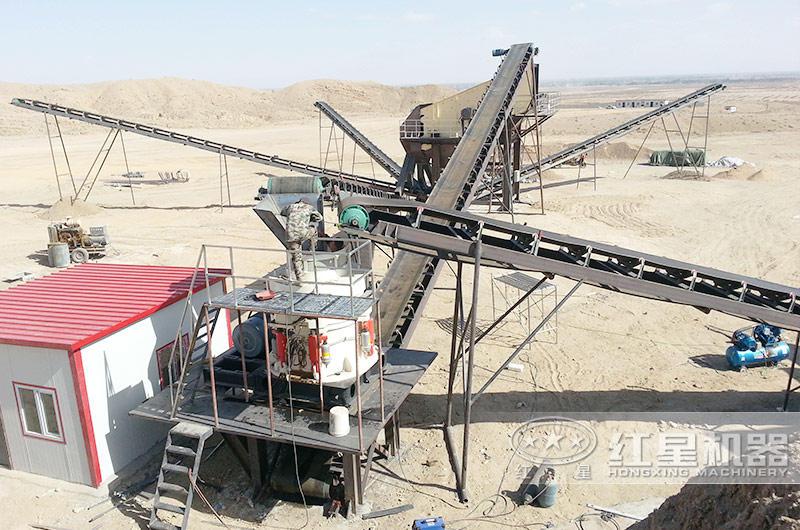 浙江石英砂采石场圆锥破碎机生产现场