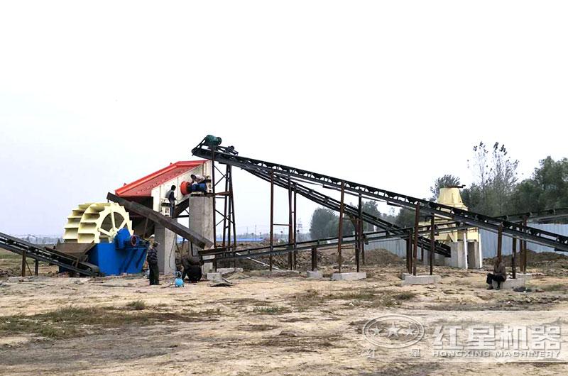 河南客户时产50吨制砂生产线现场