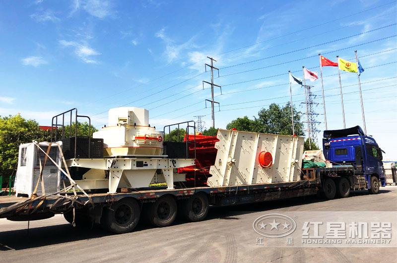 专车运输,提供全套大理石废料制砂机设备
