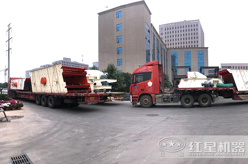 全套时产200吨石料破碎制砂生产线设备发货
