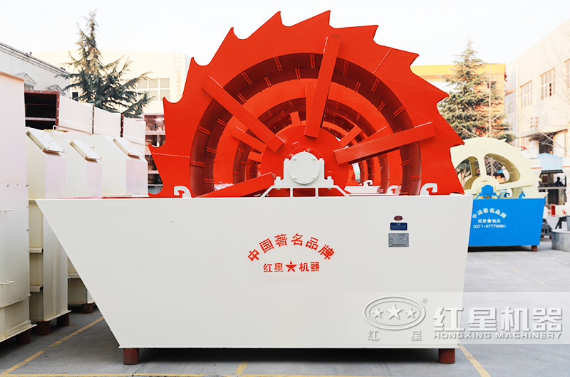 每小时产50吨轮式洗砂机设备图