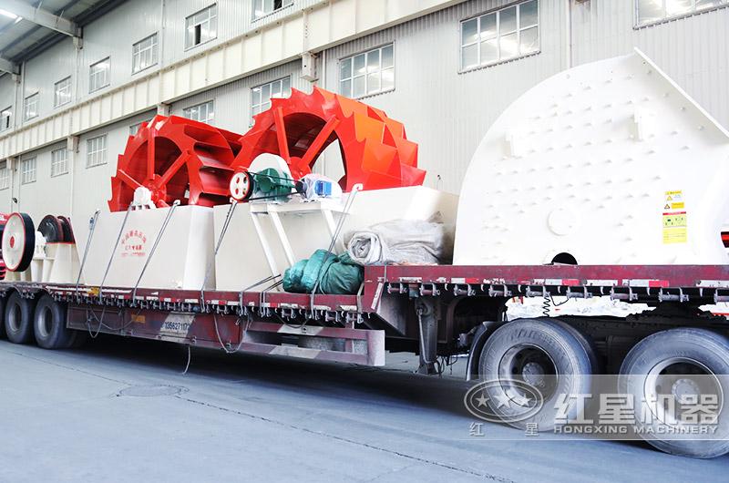 轮式洗砂机厂家直销,发往安徽