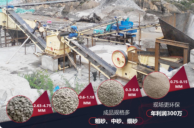 石灰岩制沙后成品