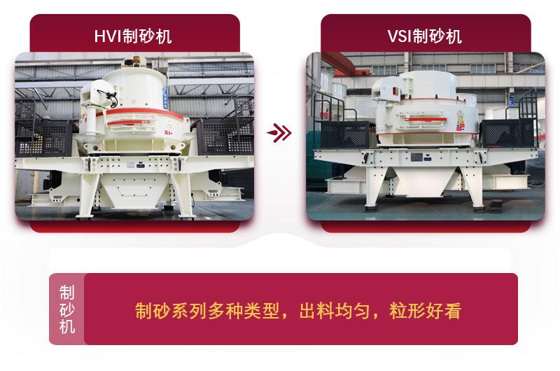 大型磨砂机:HVI制砂机和VSI制砂机
