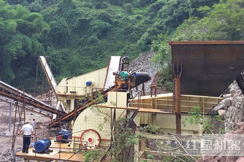 山西客户时产500吨大型石头破碎生产线