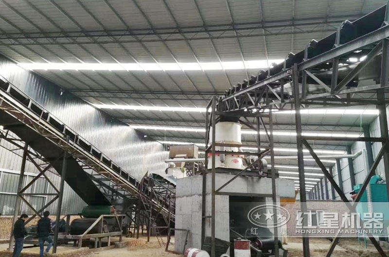 固定式砂岩做机制砂设备生产现场