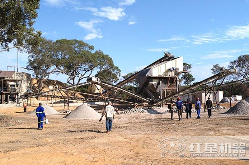 50-80吨制石制砂设备作业现场图
