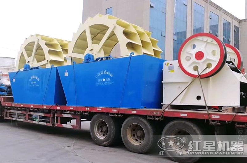 时产200吨破碎洗沙设备发货中