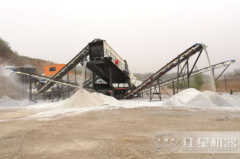 日产三千吨到五千吨的移动碎石机