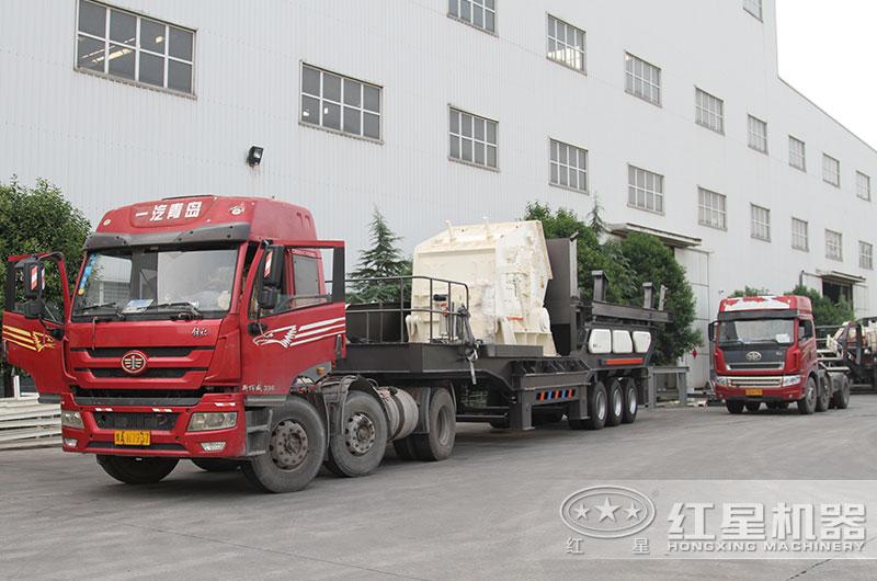 移动砂石料生产线直接开往用户现场