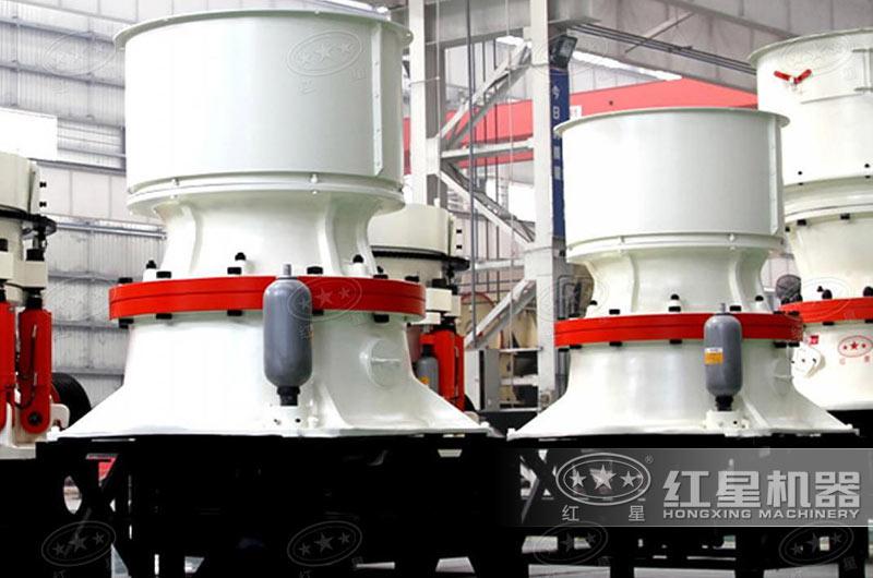新型单缸液压圆锥破碎机恒腔型设计,PLC+触摸屏控制
