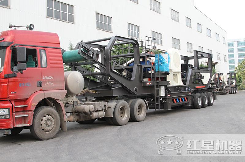 日产3000吨环保移动磕沙机发货