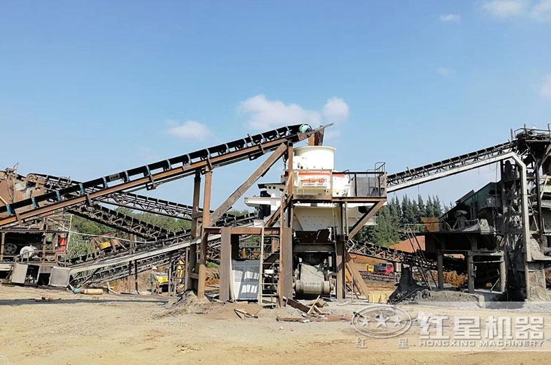 日产4000吨机制砂机生产现场