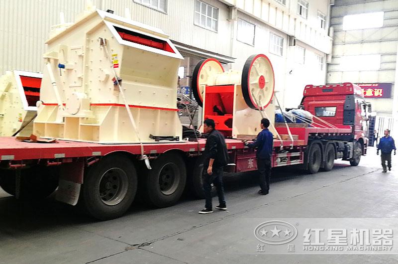 每小时200吨碎石生产线设备发货