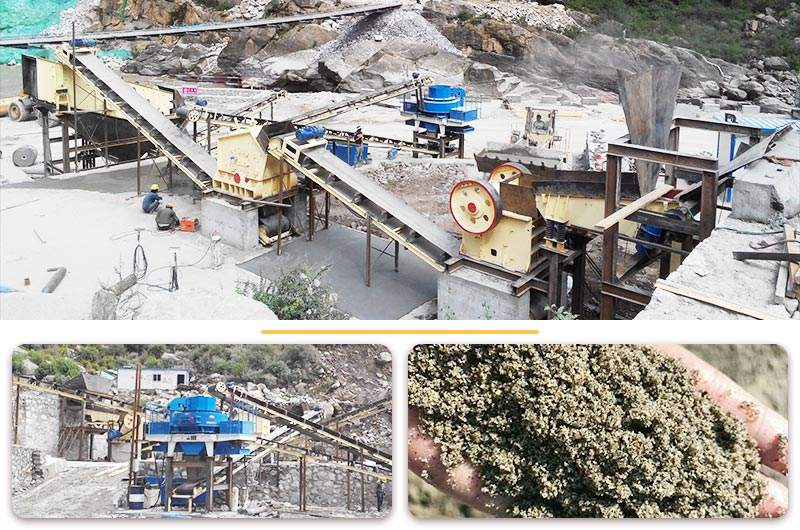 时产120吨石灰石破碎整形机生产线