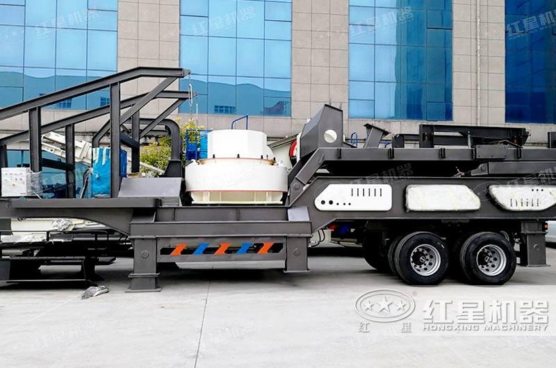 石子沙子混合制砂机——移动式制砂机