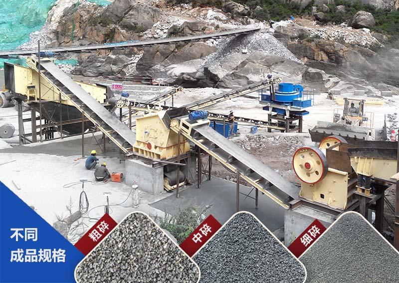 山西客户打石子厂生产线