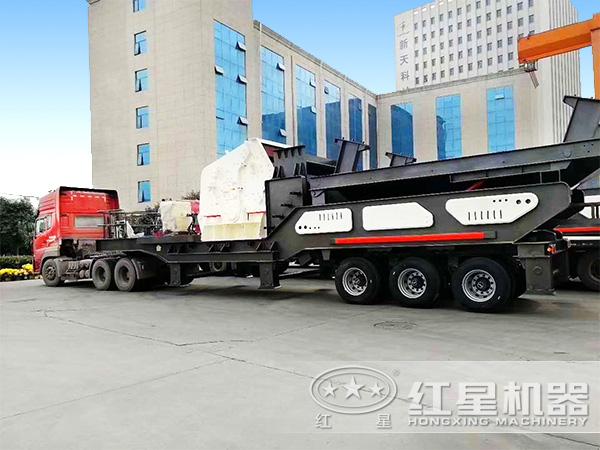 时产200吨搭配重锤破的移动破发货