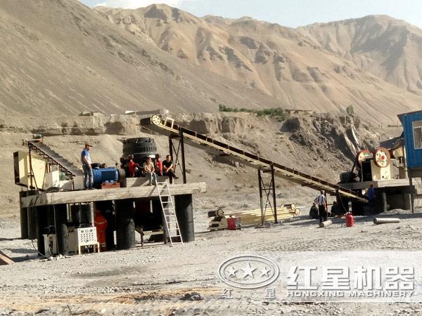 1200圆锥破碎机——内蒙古客户现场