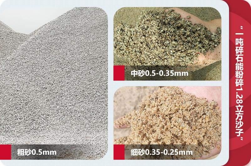 不同规格成品沙子