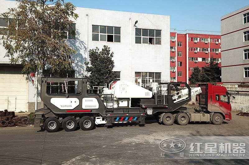 移动制砂机设备陆续发货中