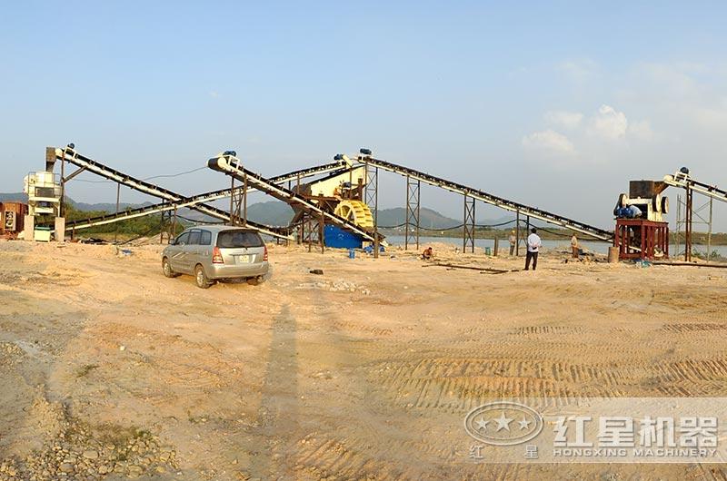 越南客户磨砂机生产线